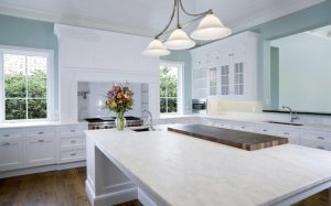 carrara mable counter top for kitchen remodeling